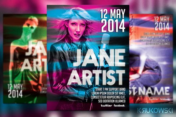 Artist Show Flyer