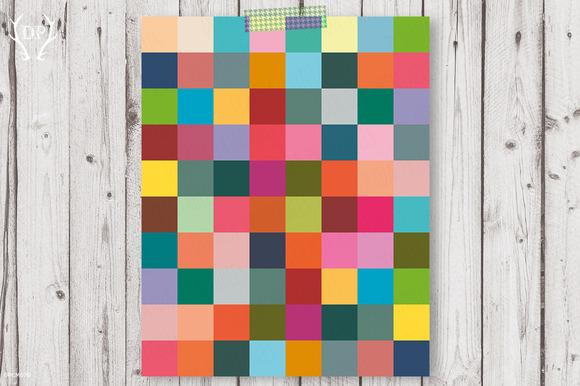 Colorful Rectagles Print Art