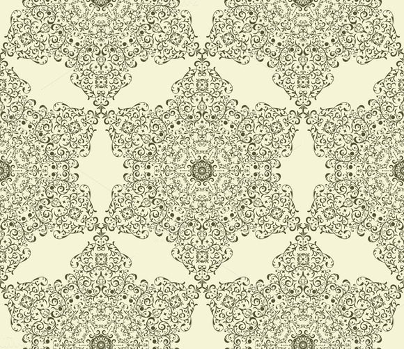 Vector Seamless Vintage Star Pattern