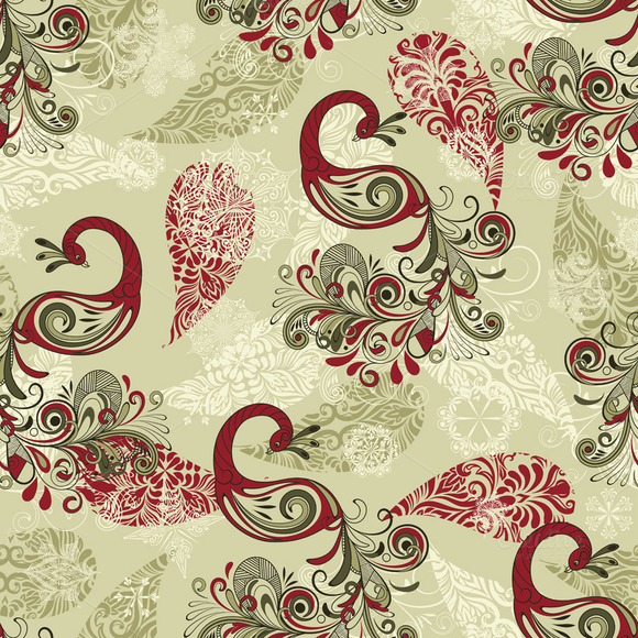 Vector Seamless Winter Pattern With