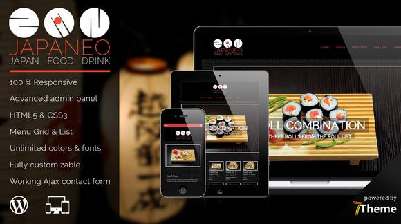 Japaneo Restaurant WordPress Theme