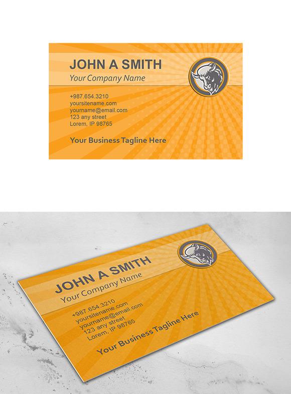 Business Card Template American Buff
