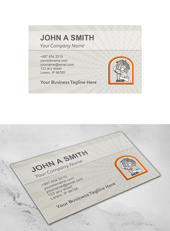 Business Card Template Carpenter Bui