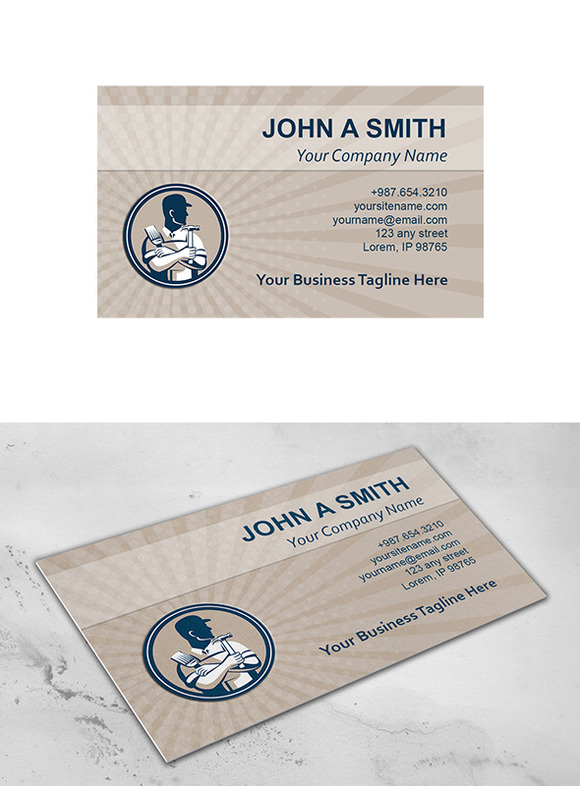 Business Card Template Carpenter Pai