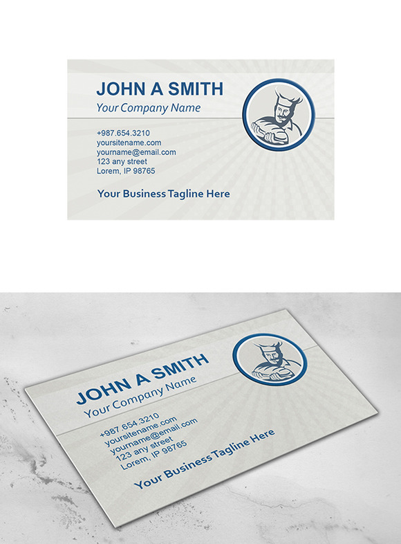 Business Card Template Baker Hold Br
