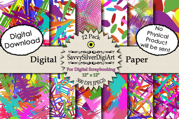 Abstract Splatter Digital Paper