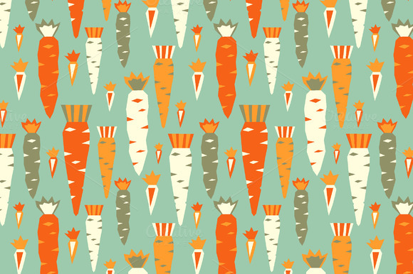 Tomatos And Carrots Patterns