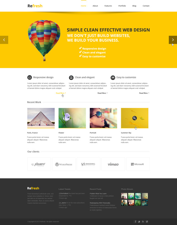 Refresh Multipurpose PSD Template