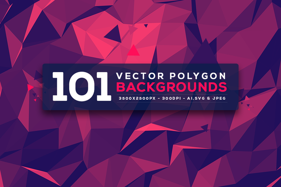101 Vector Polygon Backgrounds V.3