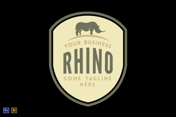 Rhino Vintage Logo Template