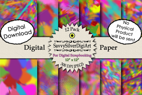 Colorful Abstract Digital Paper
