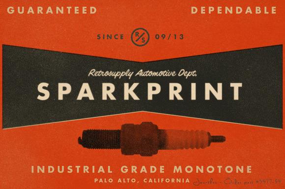 SparkPrint Monotone Action