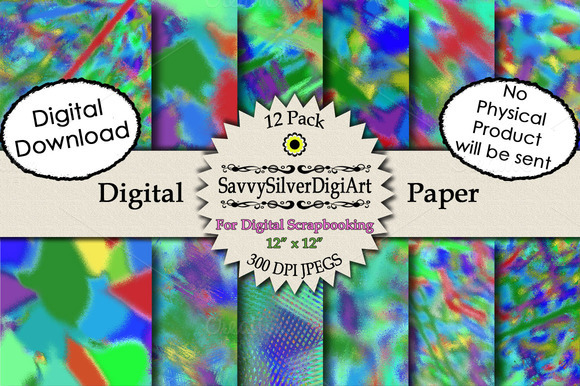 Colorful Abstract Digital Paper 2