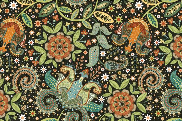 Seamless Pattern Garden-III