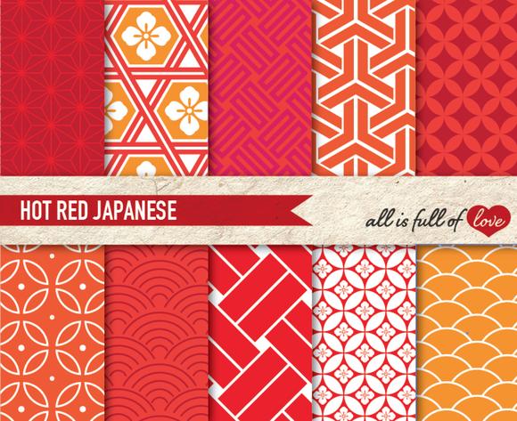 Red Hot Japan Illustration Packs