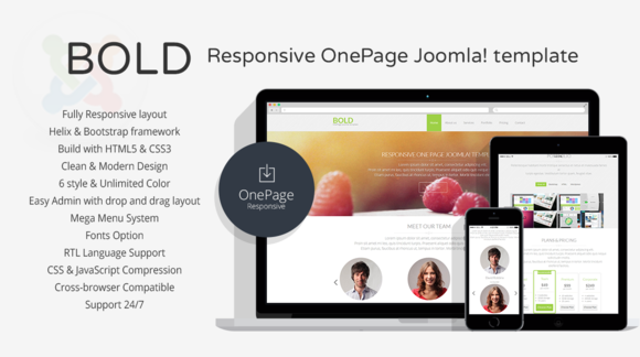 Bold Responsive OnePage Template