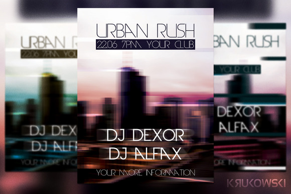 Urban Rush Flyer