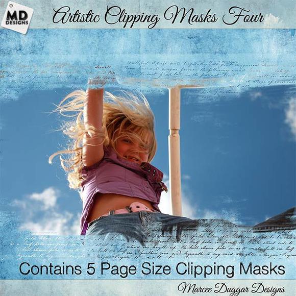 Artistic Clipping Masks Set 4