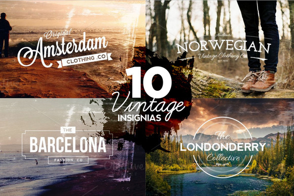 10 Vintage Insignias Textures