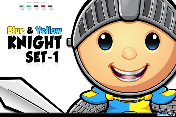 Blue Yellow Knight Set 1