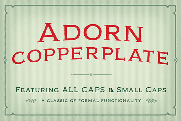 Adorn Copperplate