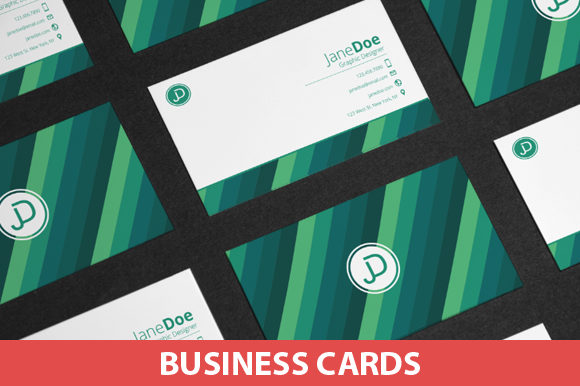 Colorful Stripes Business Cards