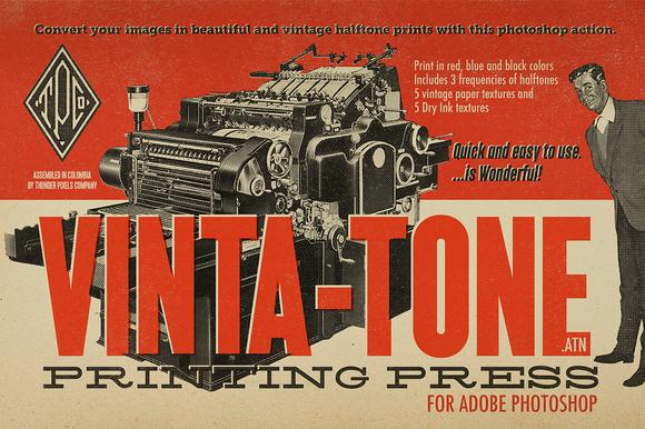 Vinta-Tone Printing Press Action