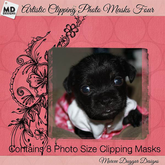 Photo Size Clipping Masks Set 4