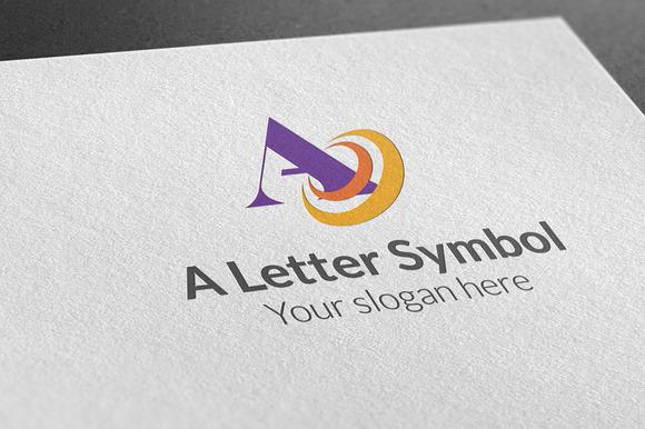 A Letter Symbol Logo