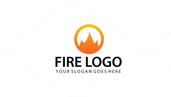 Abstract Fire Logo Template