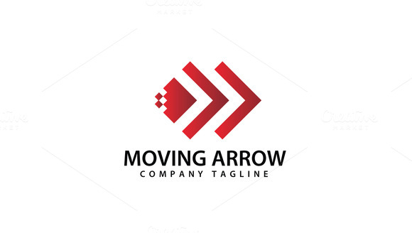 Abstract Moving Arrow Logo Template