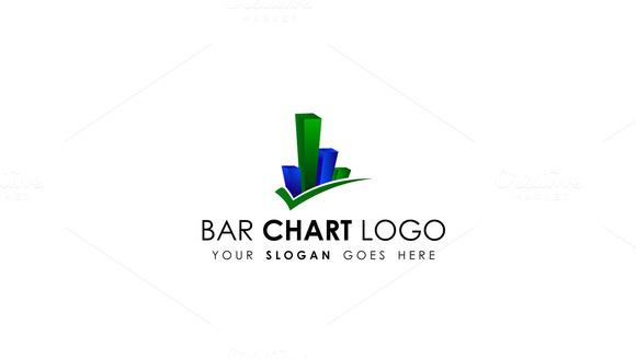 Simple Bar Chart Logo Template