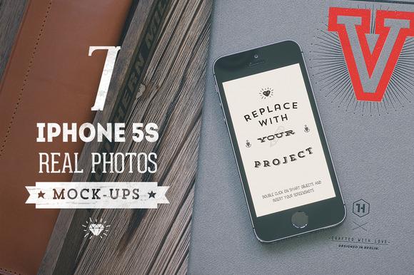 7 Hip IPhone 5S Mock-ups Bundle