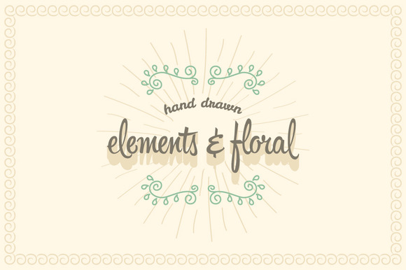 Hand Drawn Elements Floral