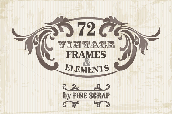 72 Vintage Frames Elements Vol.5