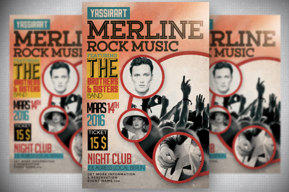 Retro Rock Music Flyer
