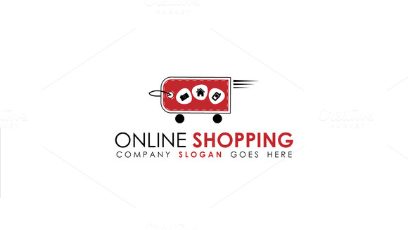 Simple E-Shop Logo Template