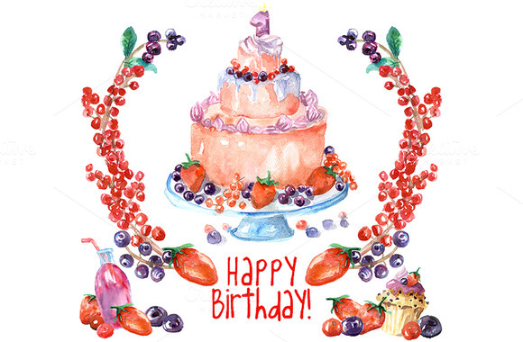 Birthday Clipart Forrest Fruits