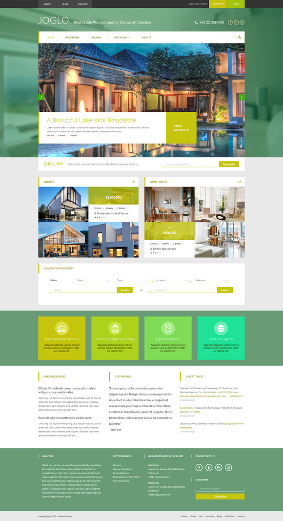 Joglo Woocommerce Real Estate Theme
