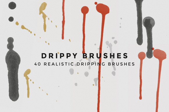 Drippy Brushes 40 Dripping Brushes