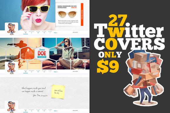 27 Premium Twitter Cover Designs