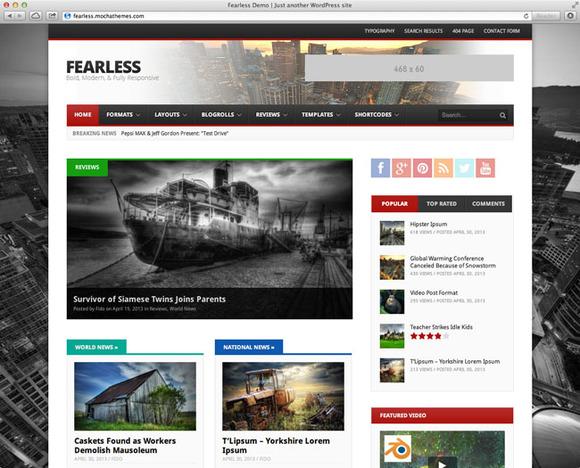 Fearless Bold Modern Magazine
