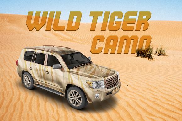 Wild Tiger Camo Vector