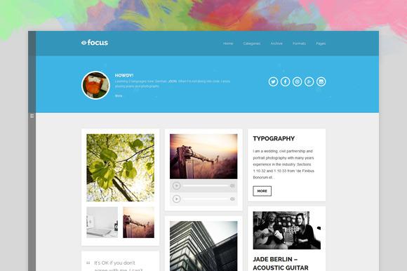 Focus Handy Theme For Blogger