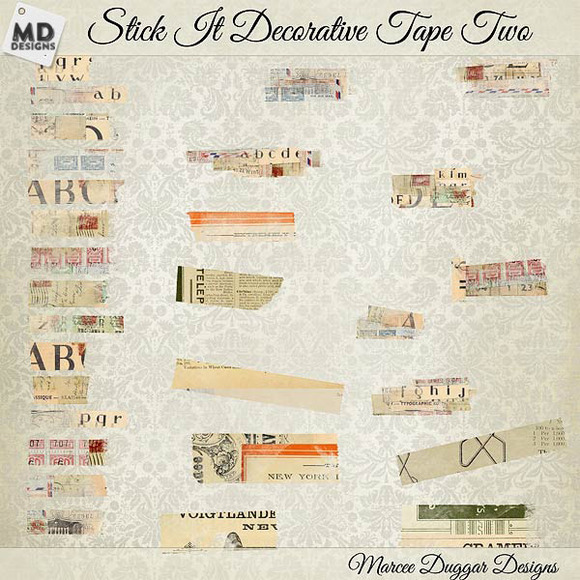 Vintage Washi Tape Layered