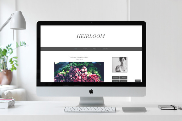 Blogger Template Heirloom