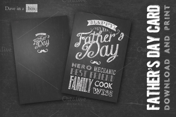 Chalk Board Father S Day Card
