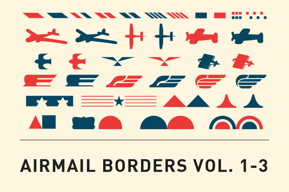 Airmail Borders Vol 1-3