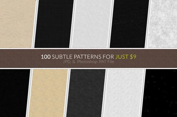 100 Subtle Patterns