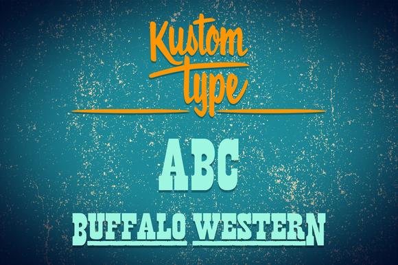 Buffalo Western Font